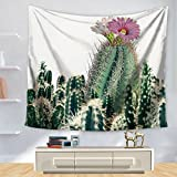 Tapestry, tropical plant cactus printing, wall decoration, beach carpet, beach towel-A 130cm150cm