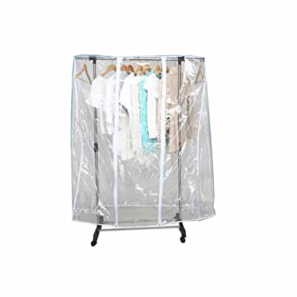Amazon QEES Garment Rack Cover Transparent Waterproof 40 Large Stunning Anderson Coat Rack