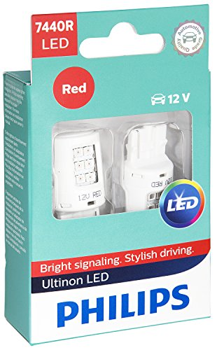 - Philips 7440 Ultinon LED Bulb (Red), 2 Pack