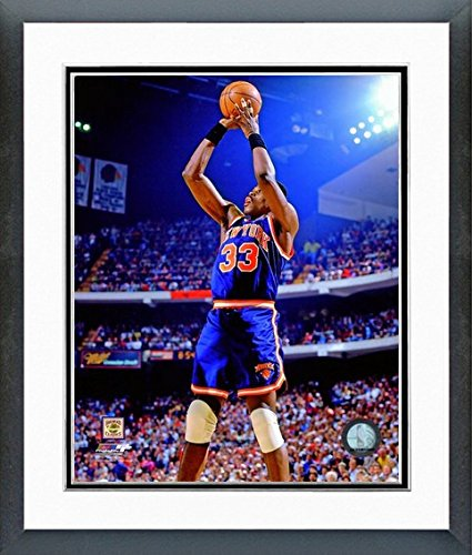 Patrick Ewing New York Knicks NBA Action Photo (Size: 26.5'' x 30.5'') Framed