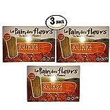 3 Pack Le Pain des fleurs the bread of flowers 100% Organic Crispbread Review