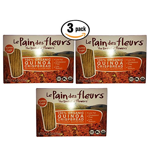3 Pack Le Pain des fleurs the bread of flowers 100% Organic Crispbread