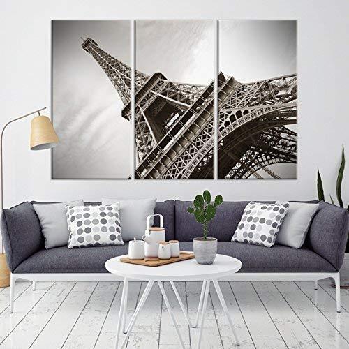 Large Eiffel Tower Wall Art Print, Extra Large Wall Art Eiffel Tower Skyline Canvas Print, Large Eiffel Tower Wall Art Canvas Print, Eiffel Tower Multi Panel Art Canvas Print