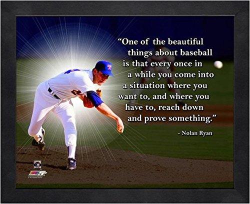 Nolan Ryan Texas Rangers framed Pro Quotes 16x20 -