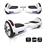 Cheap CHO Electric Self Balancing Dual Motors Scooter Hoverboard with Built-in Speaker and LED Lights – UL2272 Certified (White)