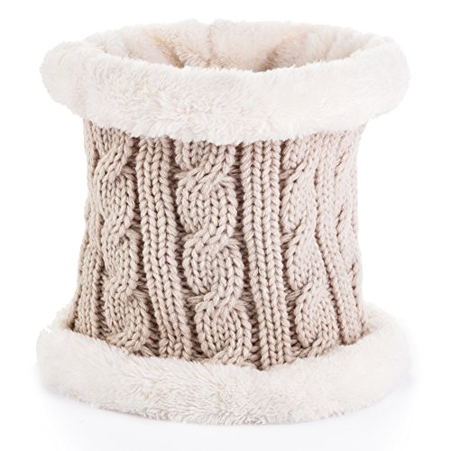 Beownwear Winter Cold Weather Comfort Soft Neck Warmer (Almond)