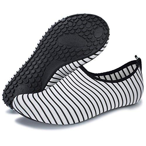 Women Water Wide Barerun for Beach Stripe Aqua Pool Quick Surf for Sports Shoes Socks Dry Yoga Barefoot Swim Men FqxBwpFZ
