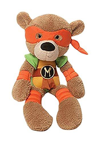 [GUND Ninja Turtles Michelangelo Stuffed Animal] (Plush Turtle Kids Costumes)