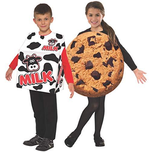 Unique Partner Halloween Costumes (Forum Novelties Child's Photo-Real Milk & Cookies Costume Set, One)