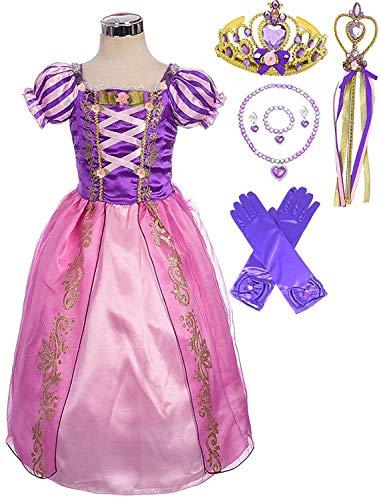 Princess Rapunzel Purple Party Costume Dress Set (3-4) by Fairytale Princess Boutique