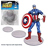 Action Figure Stand Pack of 25 Clear Stands by Entertainment Earth