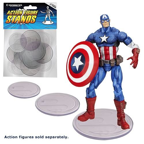 Action Figure Stand Pack of 25 Clear Stands by Entertainment