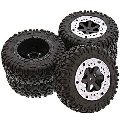 Kyosho 1/10 AXXE 2WD RS 5 TIRES, WHEELS, BEADLOCKS, FOAM INSERTS 12mm Hex Rim (Beadlock Wheels compare prices)