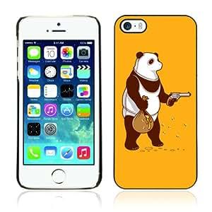CQ Tech Phone Accessory: Carcasa Trasera Rigida Aluminio PARA Apple iPhone 5 5S - Funny Bear Honey Robbery