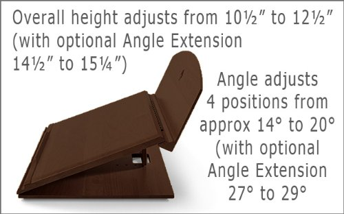 Ergo Desk - 401W - Designer Series Portable Reading and Lap Writing Desk - Walnut - Large