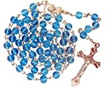 Blue Glass Beads Rosary, 6mm Beads