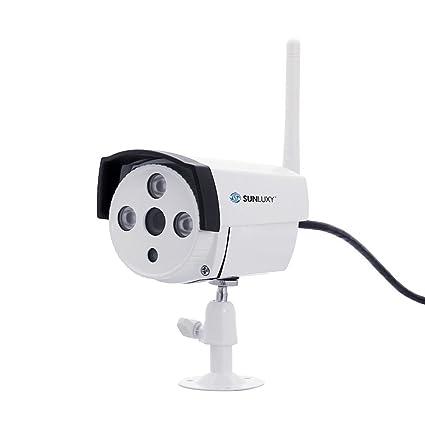 SUNLUXY® Wifi Cámara de Vigilancia 720P Cámara IP Sensor CMOS Videovigilancia CCTV Visión Nocturna IR