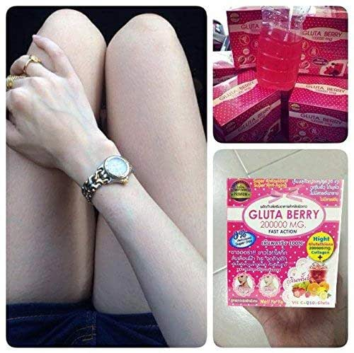 Gluta Berry 200000 mg Drink Punch Whitening Skin Fast action 10pcs./Box.