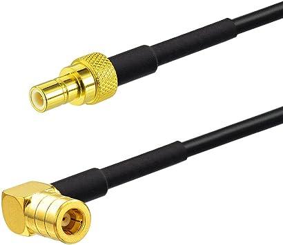 Eightwood DAB + Antena SMB Cable DAB Radio de coche SMB Macho a SMB Cable de conexión Macho RG174 16 pies 5M para radioaficionado Pioneer Clarion ...