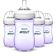 Philips Avent Natural Baby Bottles, Purple, 9 Ounce, (4 Pack)
