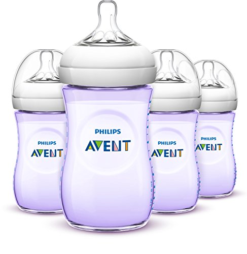 Philips Avent Natural Baby Bottles, Purple, 9 Ounce,