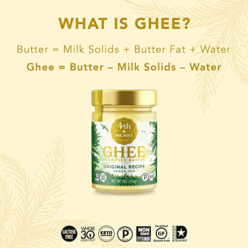 Original Grass-Fed Ghee by 4th & Heart, 16 Ounce, Keto, Pasture Raised, Non-GMO, Lactose Free, Certified Paleo 3