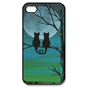 Iphone 4,4S 2D Custom Hard Back Durable Phone Case with Cat Image