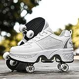 Outdoor Quad Roller Skates 4 Wheels for Women Men