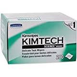 Kimwipes Delicate Task Kimtech Science Wipers (34120), White, 1-PLY, 30 Pop-Up Boxes/Case, 280 Sheets/Box, 8,400 Sheets/Case