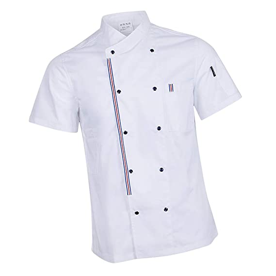 Sharplace Chaqueta de Chef Mujeres Hombre Uniforme de Cocinero Diseñado Simple Profesional