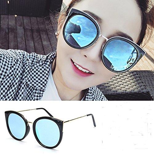 Protección UV Rostro Eye Gafas 14 de Gafas azul Ojo Shot Gato Red Sol de 1 Gafas Sol Rojo 1cm 6 WWF Gris Redondo de Red de UvwqHqP