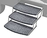 "Prest-O-Fit 2-4050 Stone Gray 22"" Wide Wraparound Radius RV Step Rug, 3 Pack"