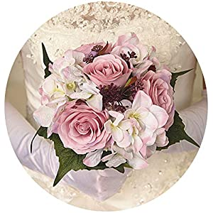 mamamoo in Stock Wedding Bouquets Artificial Flowers Rose Bridal Party Accessories for Bridesmaid,Picture color4 79