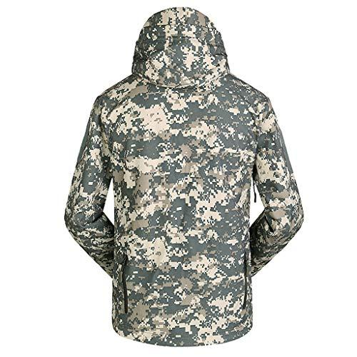 Men's Outdoors Jacket Winter Soft Shell Windbreaker Warm Jacket Waterproof Casual Sports Coat Green