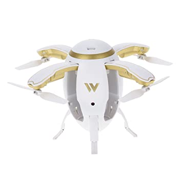Goolsky Attop W5 Flying Egg Drone WIFI FPV Plegable RC Quadcopter ...