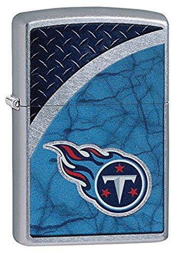 (Zippo NFL Tennessee Titans Street Chrome Pocket Lighter)