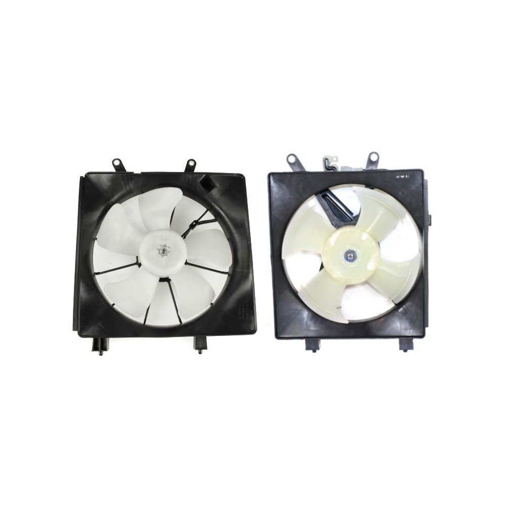 Evan-Fischer EVA6480107145669 Radiator and A/C Condenser Fan Assembly Set of 2 Plastic With Blade Motor and Shroud