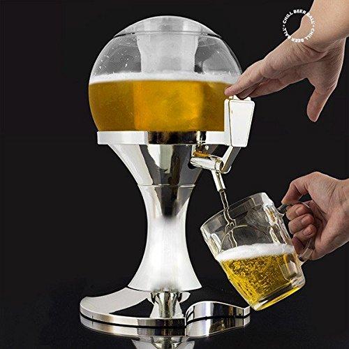 Appetitissime Chill Beer Ball - Dispensador de cerveza, plástico, plateado, 24x26x29 cm