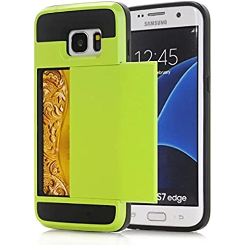 Galaxy S7 Edge Case,Hanlesi Hybrid Armor Premium Aluminum Alloy PC Slide Cover, Shock-Absorption and Anti-Scratch Sales