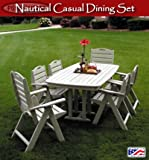 Nautical Casual Dining Set Finish: Mahogany