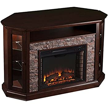 Amazon Com Pemberly Row Corner Led Fireplace Tv Stand In