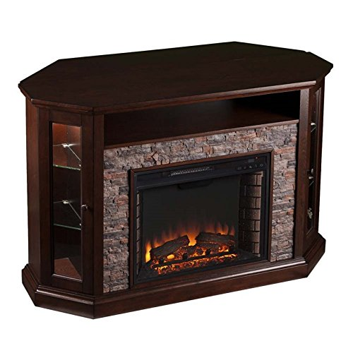 Pemberly Row Corner LED Fireplace TV Stand in ()