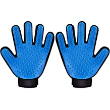 [Updated Version] Pet Grooming Glove Brush, Patec Deshedding Tool, for Removing Pet Shedding Hair, Pet Massage and Bathing Brush or Comb, for Dogs, Cats, Horses( 2 Pack LEFT&RIGHT)