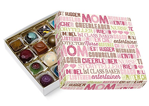 Sugar Free Happy Mother's Day Assorted Chocolate Candy Gift Box by Diabetic Candy