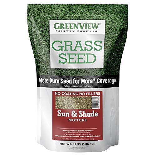 GreenView 2829336 Fairway Formula Grass Seed Sun & Shade Mixture, 3 lb