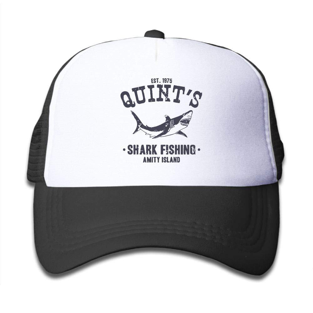 Kid's Boys Girls Quint's Shark Fishing Youth Mesh Baseball Cap Summer Adjustable Trucker Hat by NO4LRM (Image #1)