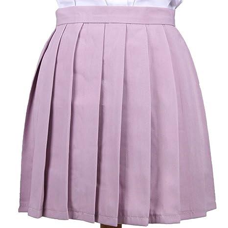 JingBiaomaoyi Falda Plisada Cosplay Niñas Uniforme Escolar Falda ...
