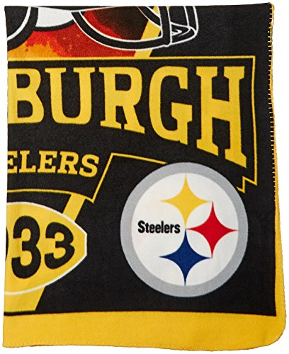 NFL Pittsburgh Steelers Banner Printed Fleece Throw, 50-inch by 60-inch from J Marcus Sports