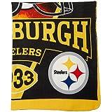 "NFL Pittsburgh Steelers Banner Printed Fleece Throw, Black, 50 x 60"""