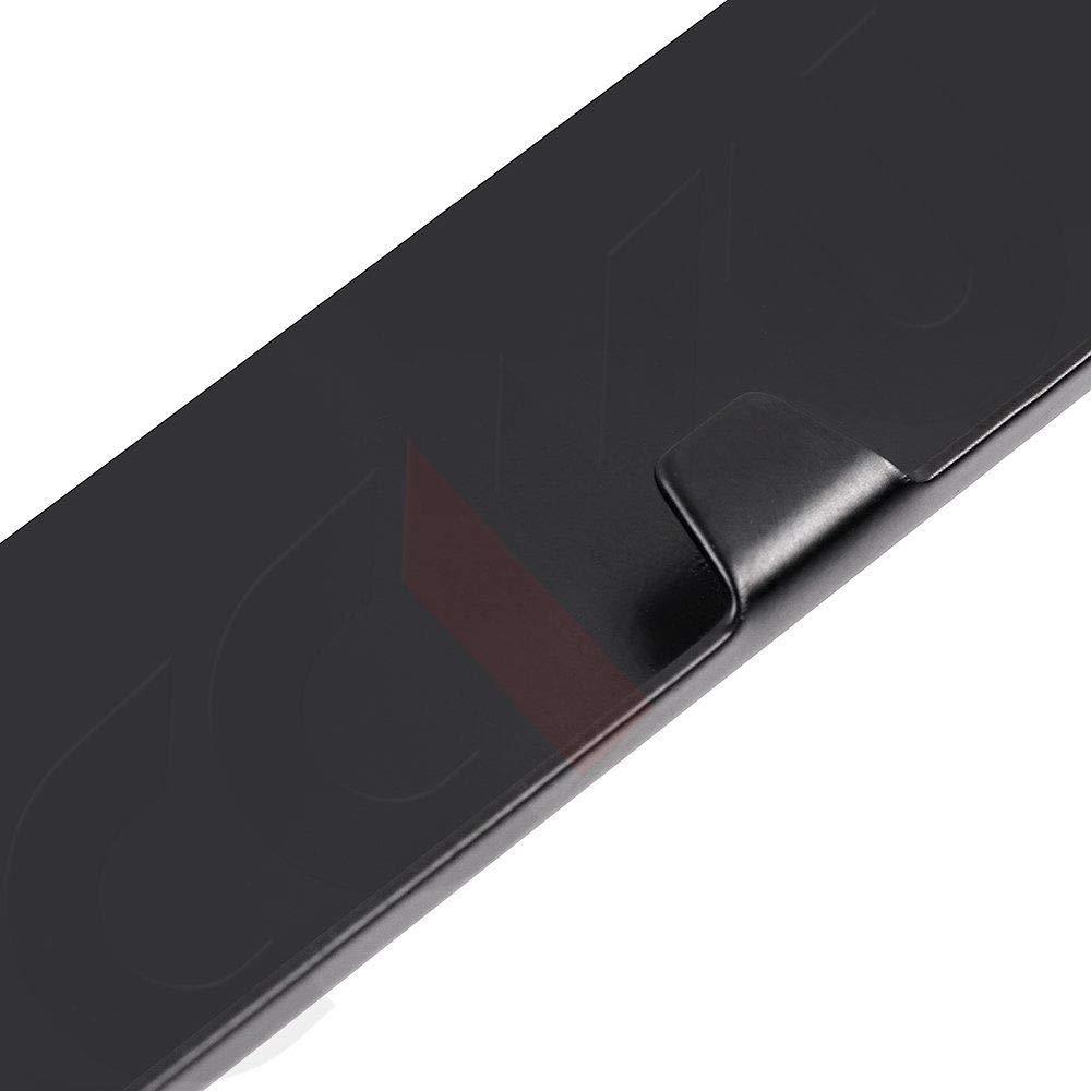 1 Estodia Black Stainless Steel License Plate Frame Cover Holder Metal with Screws Caps for Mazda 3